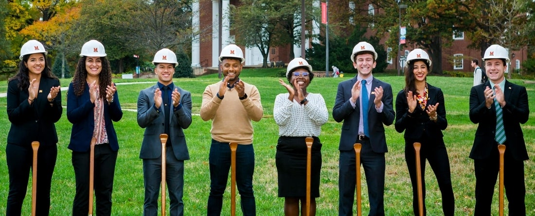 SPP students breaking ground